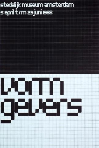 Wim Crouwel's typography, 1968