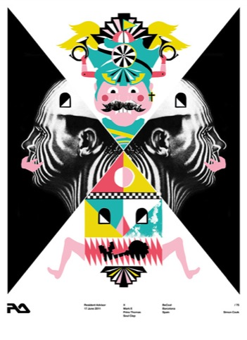 Simon Cook's poster for the Barcelona date