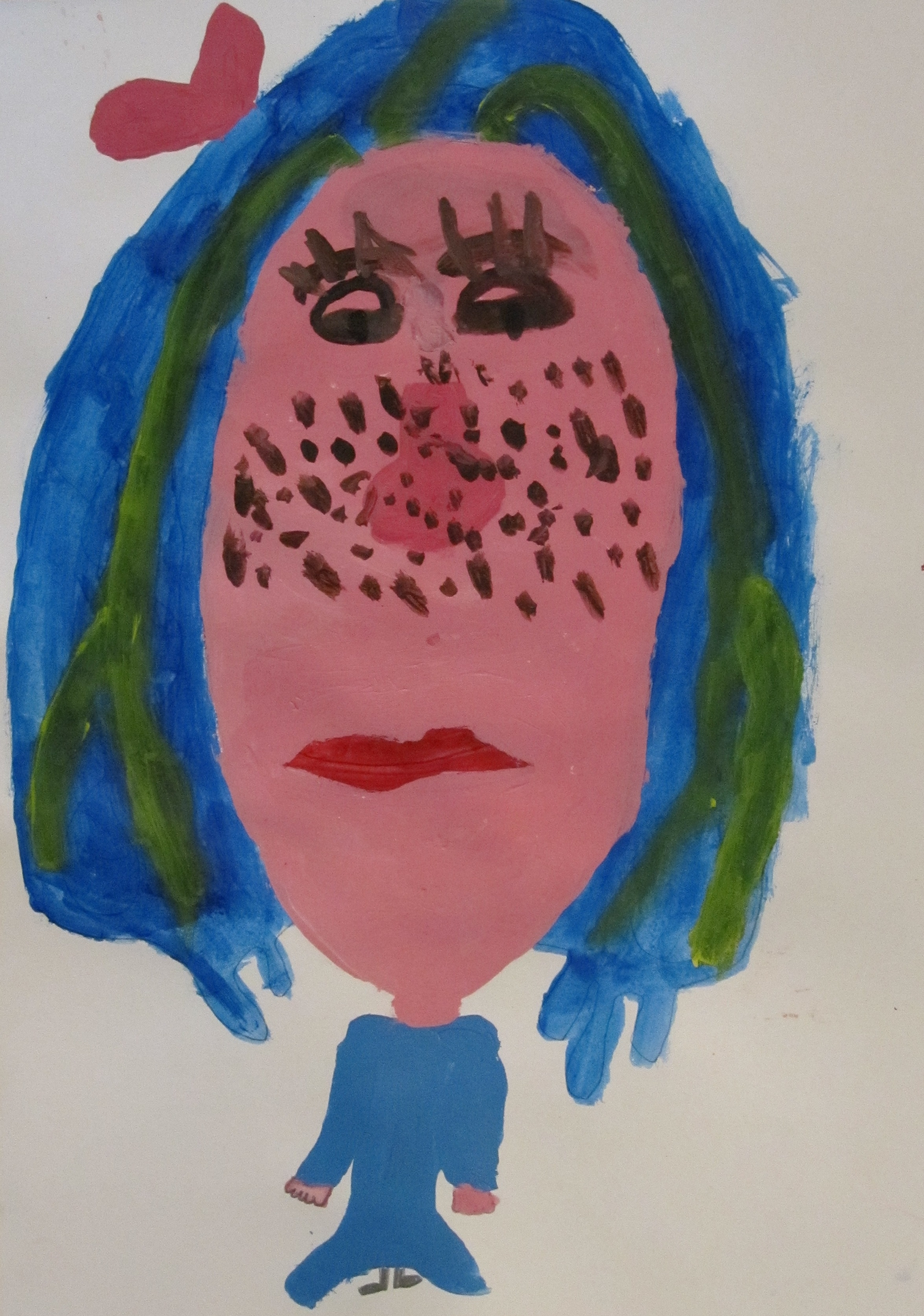 Portrait by Harriet aged 8 Devon Children the Arts