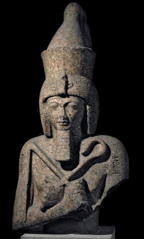 Granite statue of the Pharaoh Ramses II, Egypt. C1200 BC.
