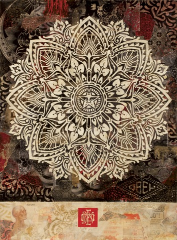 Mandala Ornament 2 (Dark) by Shepard Fairey