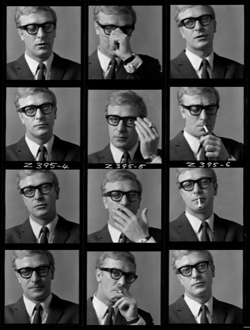 Michael Caine, contact sheet 1964