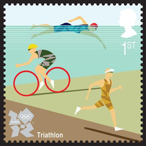 Triathlon Stamp