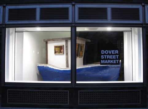 Matt Clark's Ship of Fools installation in Dover Street Market's window
