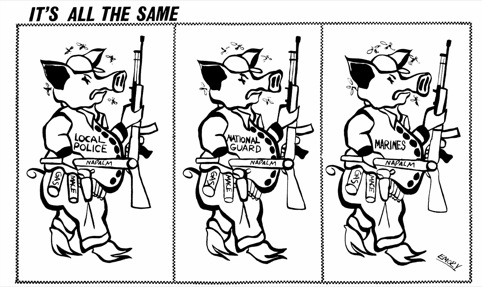 Emory Douglas, It's all the Same,  September 28, 1968