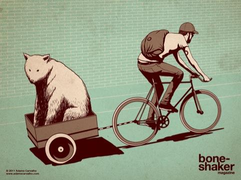 bear in a trailer!