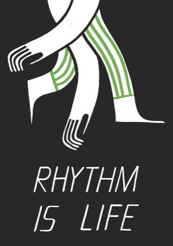 Rhythm is Life Print by Nous Vous