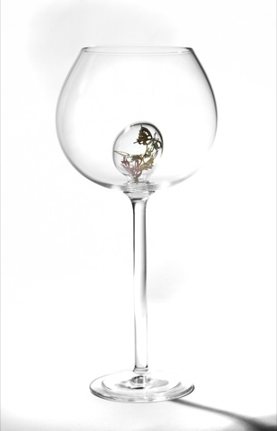 Undergrowth Design Butterflies wine glass