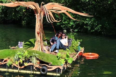 a couple in the floating forest