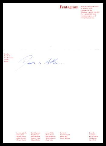 Pentagram's letter