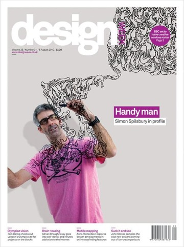 Simon Spilsbury's cover for Design Week - Yeti, which is included in the annual and exhibition