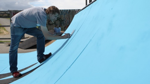 painting the ramp