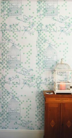 Contemporary Lab,  Dotty Bird wallpaper