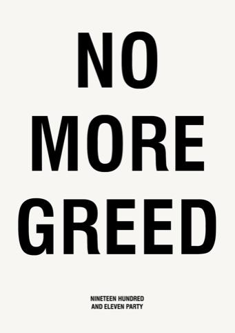 No More Greed