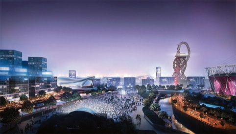 Olympic Park visualisation