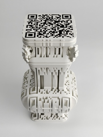 Babel Vessel ,1 Michael Eden 2010, Nylon with Mineral Coating