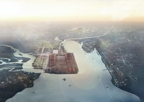 Foster + Partners Thames Hub plans