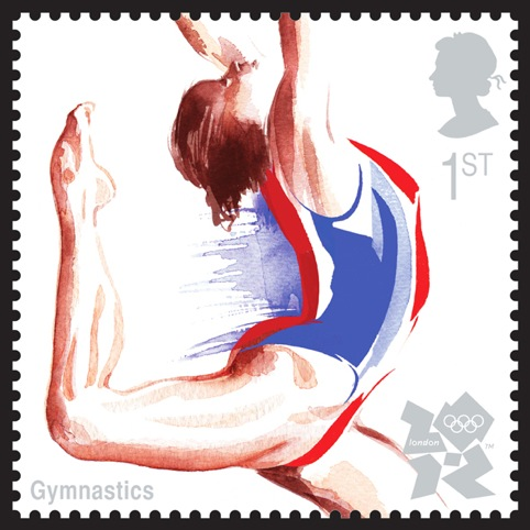 Olympics Gymnastics Stamps, designed by Studio David Hillman