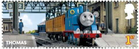 Thomas the Tank Engine stamp, designed by Elmwood