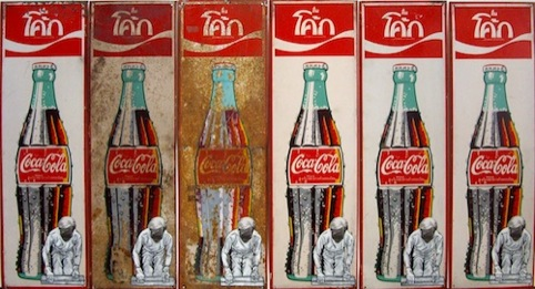 Warhol Paints on Coke