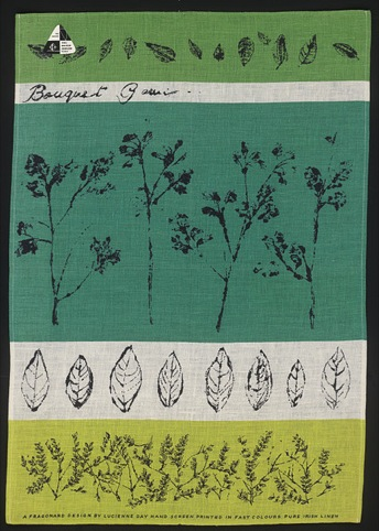 Bouquet Garni tea-towel by Lucienne Day