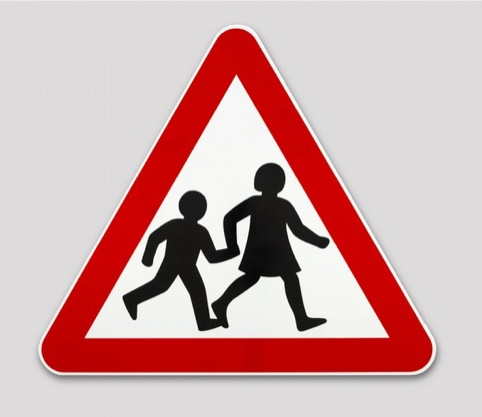 Children Crossing Sign, by Margaret Calvert and Jock Kinneir for the Ministry of Transport
