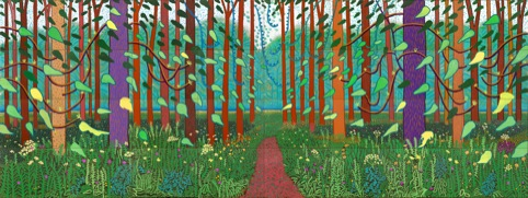 David Hockney The Arrival of Spring in Woldgate, East Yorkshire in 2011 (twenty eleven)