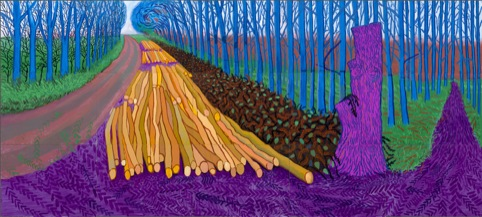 David Hockney Winter Timber, 2009