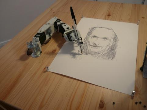 Patrick Tresset drawing robot 1