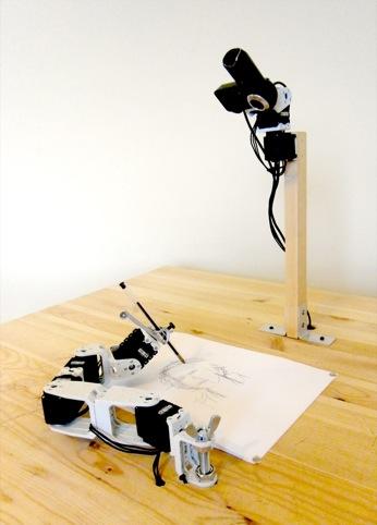 Patrick Tresset drawing robot