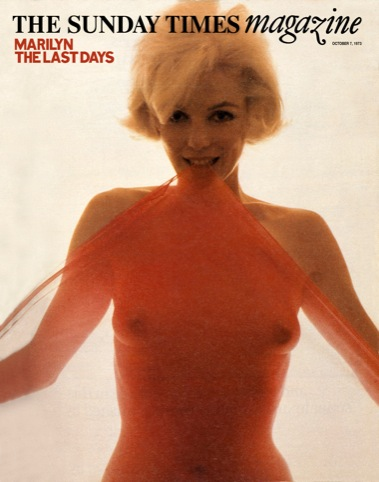 Marilyn cover, October 7, 1973, photographed by Bert Stern