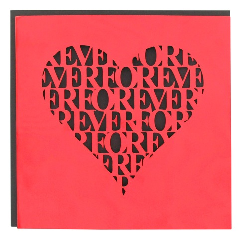 Forever Heart Valentine's card by Rosemma Hollis at LCC