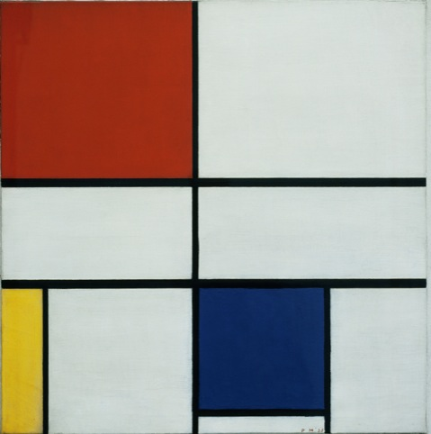 Mondrian  Composition C (No III) with Red Yellow and Blue 1935