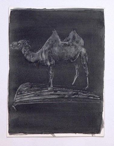 Un-painting (Camel on boat), Marc Bowditch