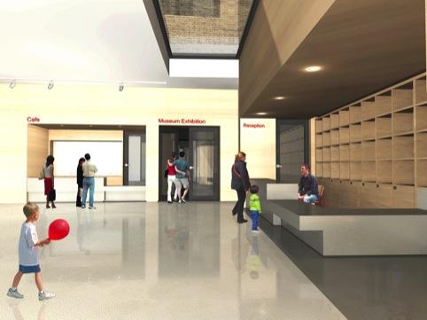 British Postal Museum and Archive interiors