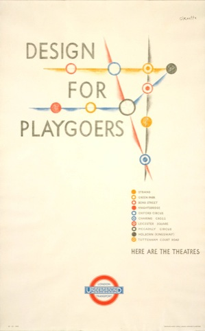 Poster Design For Playgoers by O'Keeffe 1935
