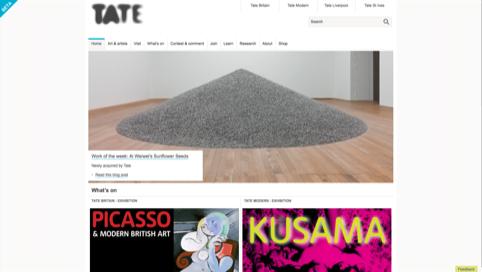Tate site in Beta