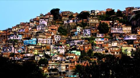 JR View of the project Woman, Favela Morro da Providência, Rio de Janeiro, Brazil, 2008