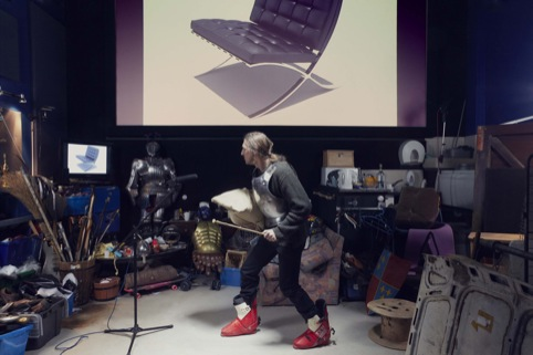 NO MORE HEROES by Nelly Ben Hayoun-Picture featuring Foley Artist David Poulton and Barcelona Chair