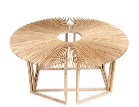 RCA student Mauricio Affonso's Fan Table