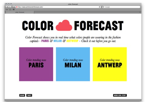 Color Forecast homepage