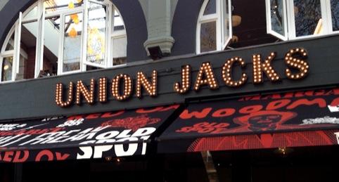 Union Jacks signage