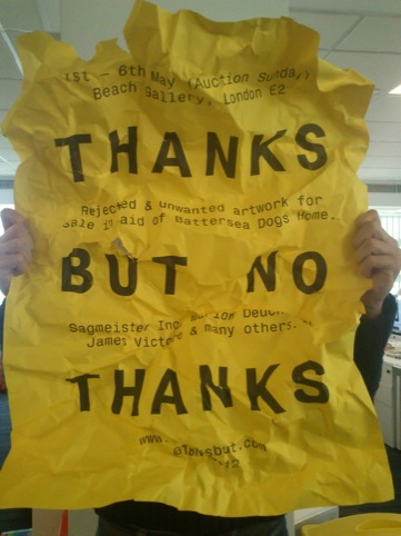 Thanks But No Thanks poster by Alex Brown and Ben West
