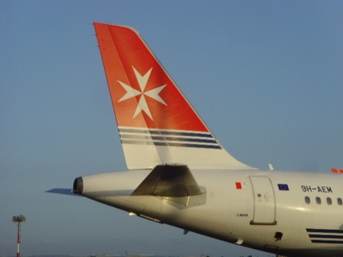 The current Air Malta identity