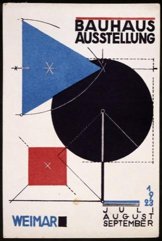 Herbert Bayer, Postcard no. 11 for the Bauhaus exhibition in Weimar, summer 1923