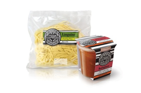 Linguine and bolognese packaging