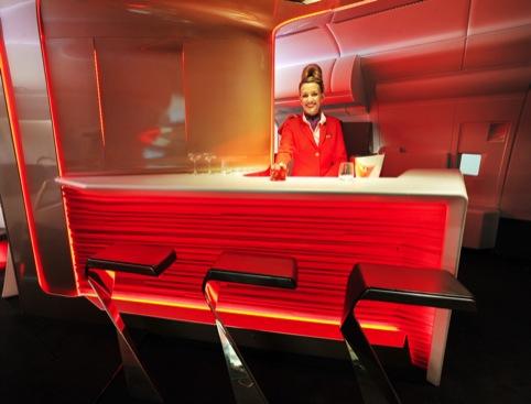 Interiors and bar by Virgin and VWBS