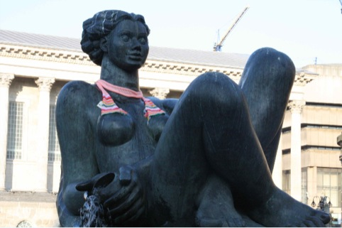 Statue sporting a scarf