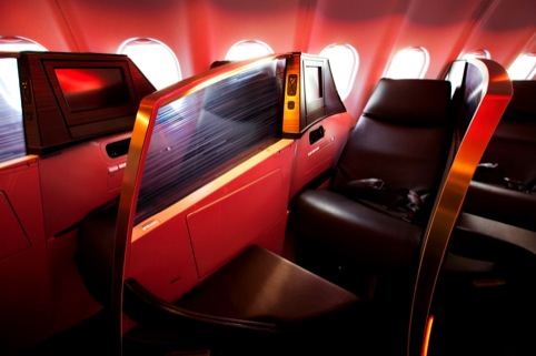 Seat design by Virgin and  Pengelly Design