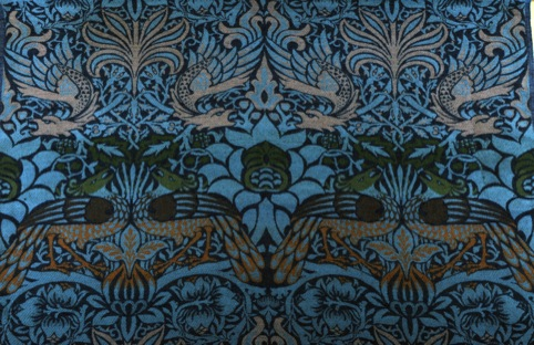 Peacock and Dragon woven wool (1878) by William Morris
